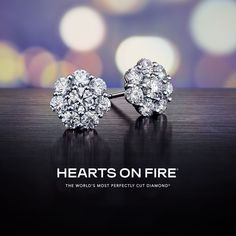 Look at all that sparkle! We love this take on the classic diamond stud earrings from Hearts On Fire!