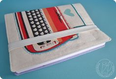 marysza, notebook, vintage, typewriter, turquoise, violet, book, diary, journal, organiser, gift, school  marysza. handmade goods made with love
