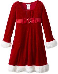 Red Velour Dress with Fur Trim and Buckle Dress (16) Bonnie Jean http://www.amazon.com/dp/B00GKM52ZA/ref=cm_sw_r_pi_dp_6s9Jwb1SGDB2Q