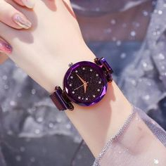 Luxury Women Watches Ladies Magnetic Starry Sky Clock Fashion Diamond Female Quartz Wristwatches relogio feminino zegarek damski-in Women's Watches Trendy Watches, Cool Watches, Watches For Men, Women's Watches, Watches Online, Cheap Watches, Ladies Watches, Wrist Watches, Rose Gold Watches