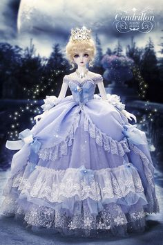 1/3 bjd youth dress --Princess Cinderella from Angell Studio~