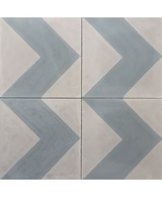 Chevron Blue Grey Cement Tile. We can make this pattern in the colours of your choice.  Visit us online: http://www.terrazzo-tiles.co.uk/chevron-blue-grey-encaustic-cement-tile.html #terrazzotiles #chevron #cementtiles #interiordesign #encaustictiles #encausticcementtiles #patternedtiles #hydraulictiles #geometric #beautifultiles @TerrazzoTiles