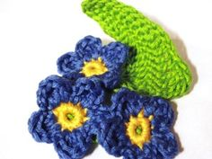 CROCHET PATTERNS (Flower Pattern #84 Forget-me-not) -Crochet & Knit Design Heaven