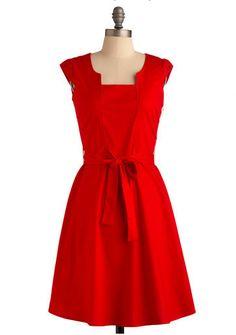 Pretty little red dress...adore.