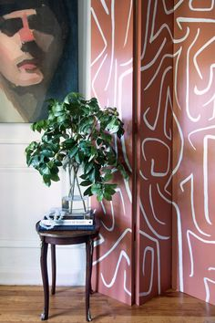 Sherwin Williams Color of the Year 2019 - Cavern Clay - DIY Folding Screen - Abstract Folding Screen Diy, Interior Inspiration, Mid Century Modern Style, Color, Decor Inspiration, Paint Colors, Hunted Interior, Wall Color, Sherwin Williams Colors