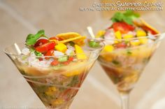 Snapper Ceviche is a savory Latin-American dish made with citrus and your choice of seafood. This is Chef Irie's recipe from Taste the Islands TV Show.