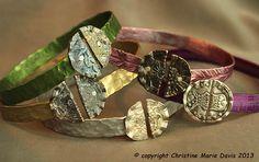 #smashedknittingneedle bracelets by Christine Marie Davis