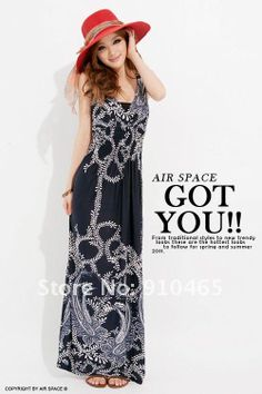Womens Long Dress Fation Bohemia Halter Maxi Dress100%Quality Wholesale 1Pcs/Lot Free Shipping Hot Sale 171.05
