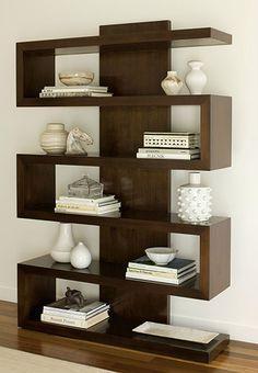 Decoración, mueble para libros y demás