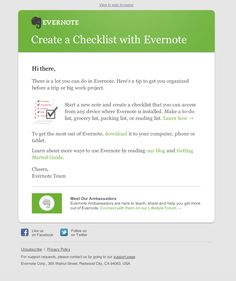 Evernote checklist how to.