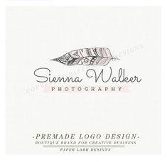 Photography Logo Design Custom Premade by PaperLarkDesigns