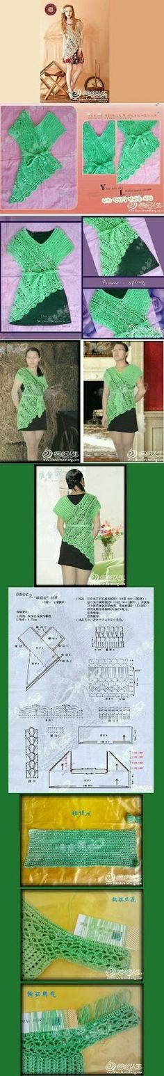 Mi baúl de Inspiraciones : Me gusta ésta blusa de verano con patrón incluido!