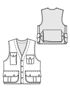 Men's Cargo Vest 12/2010 #133 – Sewing Patterns | BurdaStyle.com