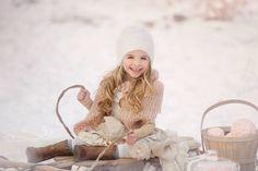 Children snow photo session