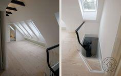 Trappeforløb fra stueetage til tagetage