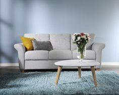 Sininen tunnelma 💙 Malli: Mari Vaihtoehdot: 2- ja 3-istuttava sohva ja vuodesohva, nojatuoli Jälleenmyyjä: Sotka-myymälät  #pohjanmaan #pohjanmaankaluste  #koti #sohva #olohuone #armchair #livingroominspo #livingroomdecor Decor, Love Seat, Furniture, Home, Couch, Home Decor