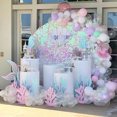 2 pcs Under The Sea & Little Mermaid Baby Shower Party Decorations - Roll It Baby Mermaid Theme Birthday, Little Mermaid Birthday, Little Mermaid Parties, Mermaid Themed Party, Mermaid Party Decorations, Birthday Decorations, Shower Party, Baby Shower Parties, Mermaid Baby Showers
