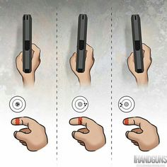 Understand the Glock trigger better and notice how much you progress using your Glock pistol! Understanding the Glock Trigger Glock Survival Life Hacks, Survival Tips, Survival Skills, Weapons Guns, Guns And Ammo, Trigger Finger, Shooting Range, Shooting Guns, Pistol Shooting Tips