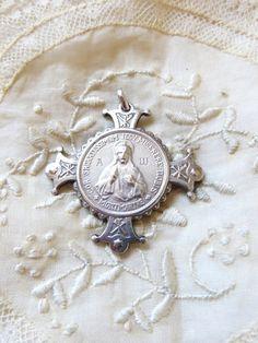 French religious artifact/pendant Jesus by 2shoppingdiva on Etsy