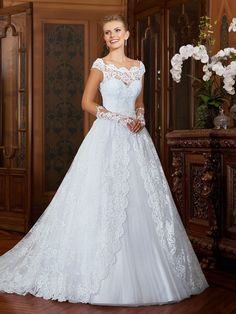 Find More Wedding Dresses Information about Vestido de noiva Vintage Lace Wedding Dresses 2016 Cap Sleeves Sheer Lace Back Wedding Gowns Bride Dresses Robe de mariage ,High Quality dress demetrios,China dresses elderly Suppliers, Cheap dress behind from xlbutterfly on Aliexpress.com