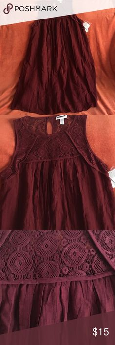 💕Burgundy Maternity Dress 💕 💕New with tags, Can be worn like a summer dress with flats, No defects or stains. Flowy dress.💕 Liz Lange Dresses Midi