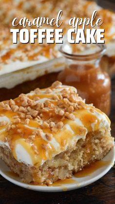 Apple Desserts, Köstliche Desserts, Apple Recipes, Delicious Desserts, Health Desserts, Fall Recipes, Caramel Apple Dump Cake, Apple Dump Cakes, Caramel Apples