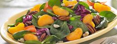 Spinach Mandarin Orange Salad Spinach Mandarin Orange Salad, Mandarin Salad, Mandarin Oranges, Soup Recipes, Salad Recipes, Orange Recipes, Healthy Salads, Soup And Salad, Favorite Recipes