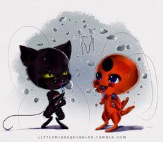 Miraculous Ladybug and Chat Noir Tiky and Plag Kawaiii