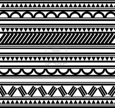 Maoríes pulsera de estilo polinesio tatuaje