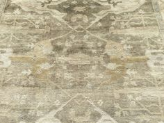 8x10 RUG NEW HAND KNOTTED WOOL WOVEN USHAK OUSHAK BROWN MUTED 8 x 10 area rugs 9 #oushak #Transitional