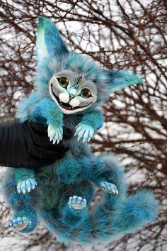Ein einhalb Cheshire Katzen von GakmanCreatures auf Etsy