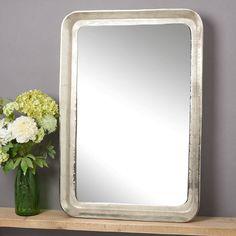 Deep Raw Nickel Mirror