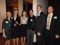 Alumni in Dallas networked with students who were down meeting with top executives in the Dallas area.