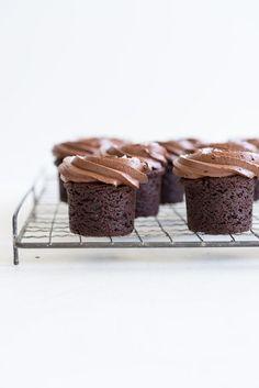 Hazelnut Brownie Bites with Dark Chocolate Hazelnut frosting