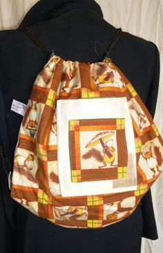 Squirrel Back Pack by SimJaTa on Etsy, £6.50