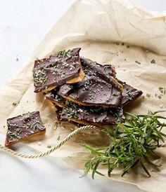 Dark Chocolate Rosemary Toffee