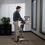Laptop Workout Desk and Recumbent Bike @ Sharper Image