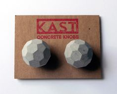 Seven Practical Home Accessories | Kast Concrete Knobs | They come in a variety of beautiful geometric shapes and will add a spark of individuality to your kitchen or bathroom cabinets. (c) Design Milk