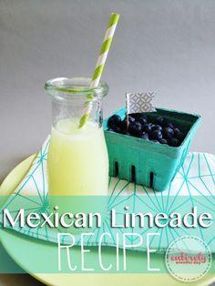 Sparkling Mexican Limeade Recipe. So refreshing! entirelyeventfulday.com #recipe #drinks #summer