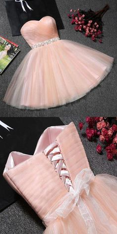 long prom dresses - Fantastic ALine Champagne Tulle Strapless Homecoming Dresses With Dama Dresses, Quince Dresses, Hoco Dresses, Formal Dresses, Sweet 16 Dresses, Pretty Dresses, Beautiful Dresses, Strapless Homecoming Dresses, Quinceanera Dresses