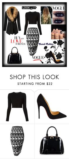 """""""*Girl at Work*"""" by lejlaaganovic ❤ liked on Polyvore featuring Belleza, Proenza Schouler, Christian Louboutin, Doublju, Relaxfeel, WorkWear, casualoutfit y blackbeauty"""