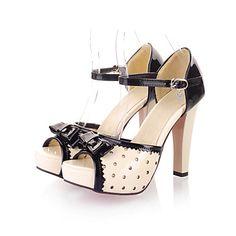 ce209ad4253 [$34.99] Γυναικεία παπούτσια - Πέδιλα / Γόβες - Φόρεμα / Καθημερινά - Τακούνι  Στιλέτο - Με Τακούνι / Peep Toe / Πλατφόρμες - Δερματίνη -Μαύρο