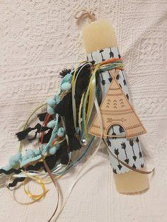 ΛΑΜΠΑΔΑ ΙΝΔΙΑΝΙΚΗ ΣΚΗΝΗ Light My Fire, Handmade Candles, Easter Ideas, Happy Easter, Crafts, Diy, Decorated Candles, Happy Easter Day, Manualidades