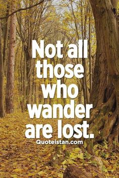 Not all those who #wander are lost. - J. R. R. Tolkien #quotes from quoteistan.com