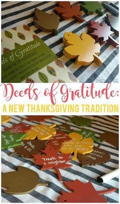 Deeds of Gratitude: A New Thanksgiving Tradition - Sunshine and Munchkins