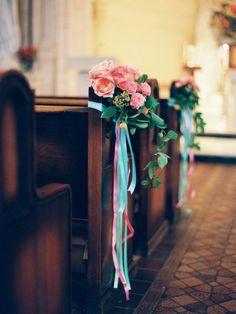8 maneras creativas de decorar el pasillo de la ceremonia de boda. Foto-Ryan Ray