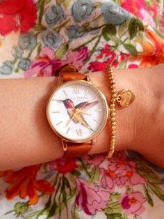 Wow - our Midi Hummingbird looks fab on OB fan Razwana teamed with a sweet little bracelet Olivia Burton, Hummingbird, Classic Style, Street Style, Fan, Gift Ideas, Bracelet, Legs, Watches