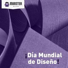 Día Mundial del Diseño. #monsterblinds #decoracion #estilo #casa #hogar #persianas #blinds #design #interiordesign #remodela #colores #formas #texturas