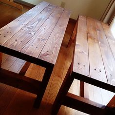 ダイニングテーブルリメイク/ベンチ手作り/ベンチ DIY/ベンチ/DIY…などのインテリア実例 - 2015-02-16 15:52:37 | RoomClip(ルームクリップ)