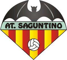 1951, Atlético Saguntino (Sagunto, Comunidad Valenciana, España) #AtléticoSaguntino #Sagunto #Valencia (L19076) Sports Logo, Football Team, Superhero Logos, Soccer, Badges, Spain, Hs Sports, Sports Clubs, World